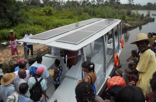 Un catamaran électro-solaire à Madagascar