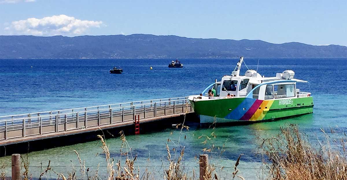 Vidéo : les Iles Sanguinaires en bateaux hybrides