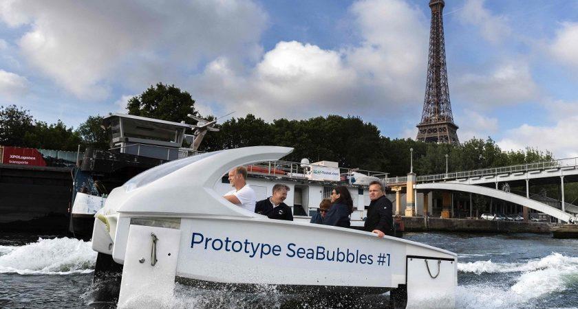 Vidéo : les bateaux-taxis électriques Sea Bubbles en tests sur la Seine