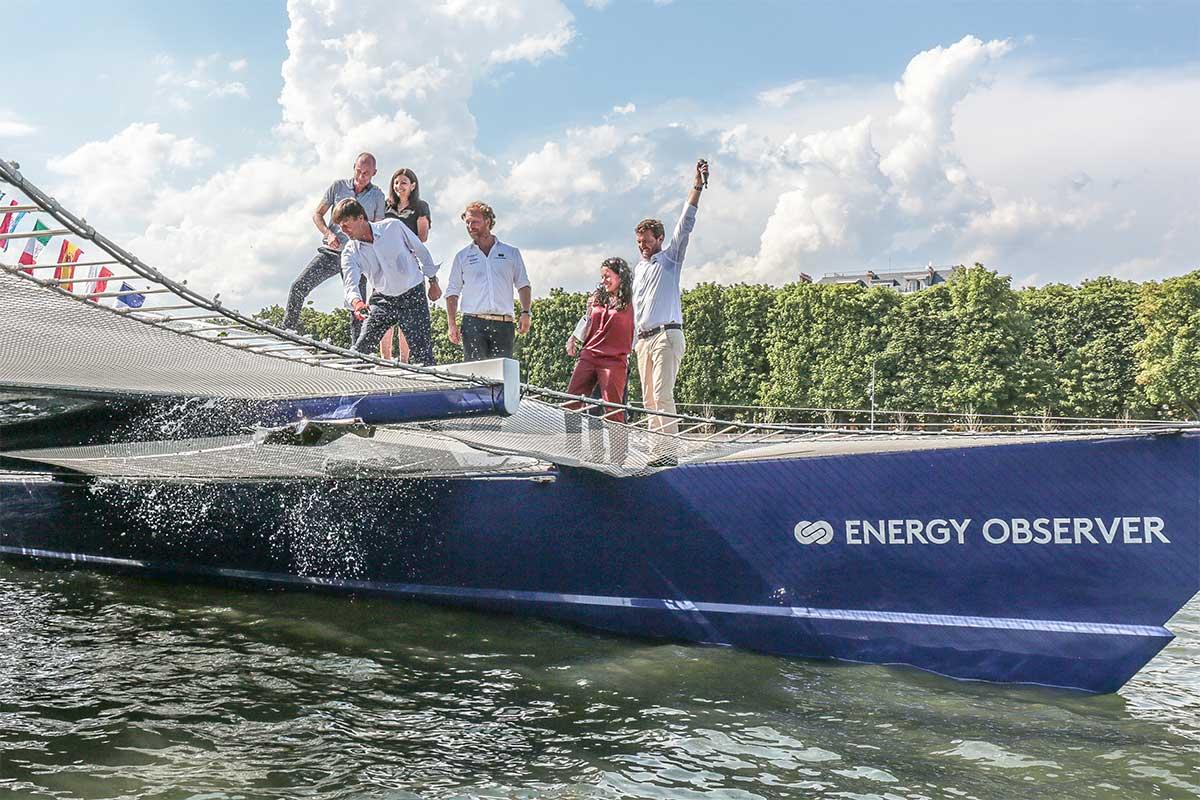 Energy Observer : le bateau à hydrogène en escale inaugurale à Paris