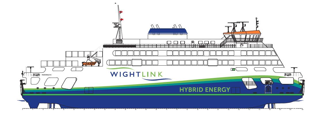 Wightlink dévoile le nom de son futur bateau hybride