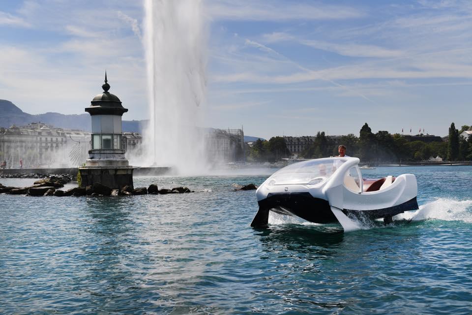 Sea Bubbles : le bateau taxi électrique en tests à Lyon et à Genève