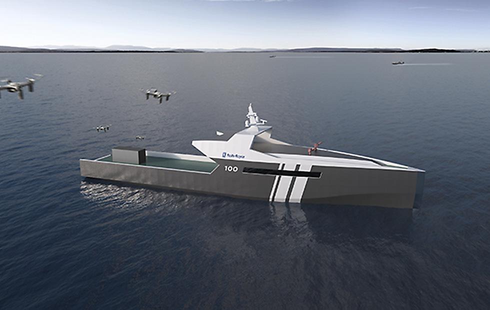 Rolls-Royce présente un navire patrouilleur électrique et autonome