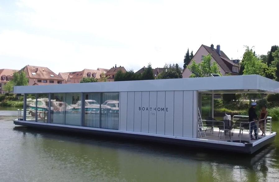 Boathome : la maison flottante électrique en vidéos
