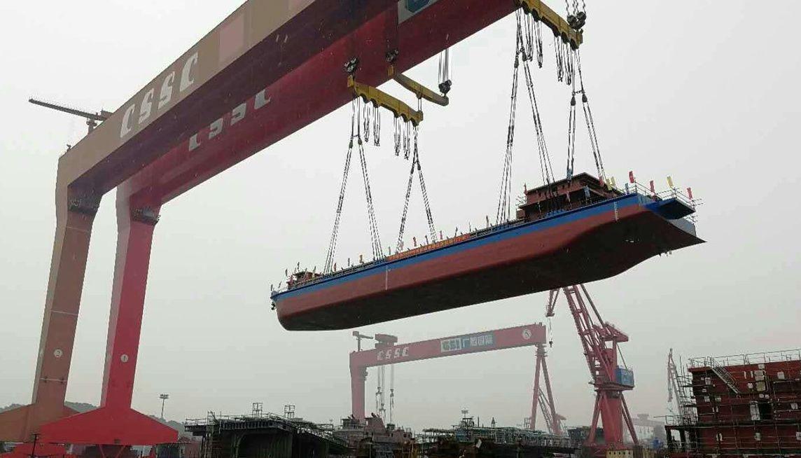 La Chine inaugure son premier cargo électrique