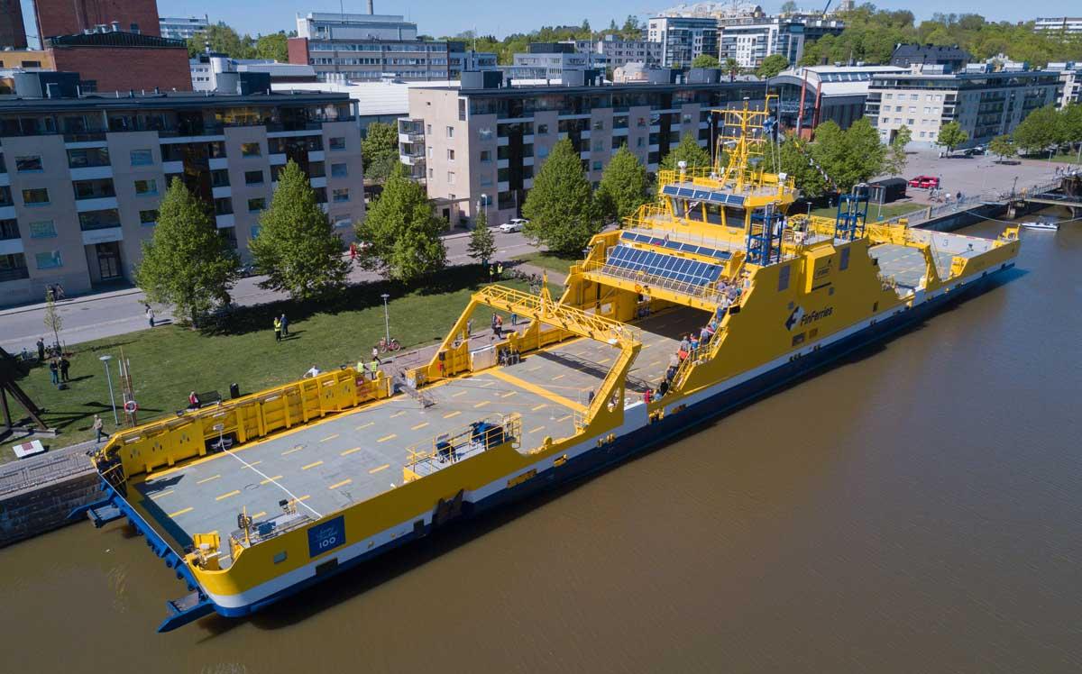 La Finlande inaugure son premier ferry électrique