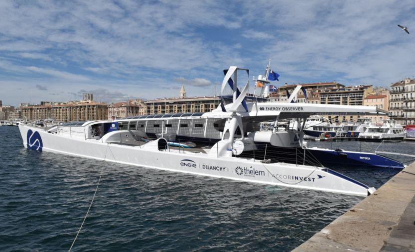 Energy Observer : le bateau à hydrogène entame son tour de la Méditerranée