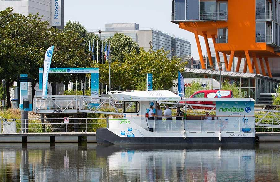 Nantes lance son premier bateau à hydrogène