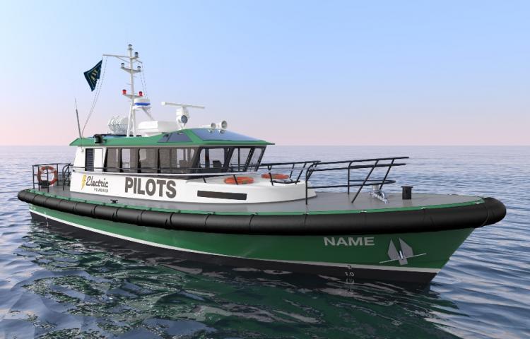 Robert Allan présente son bateau de service 100 % électrique