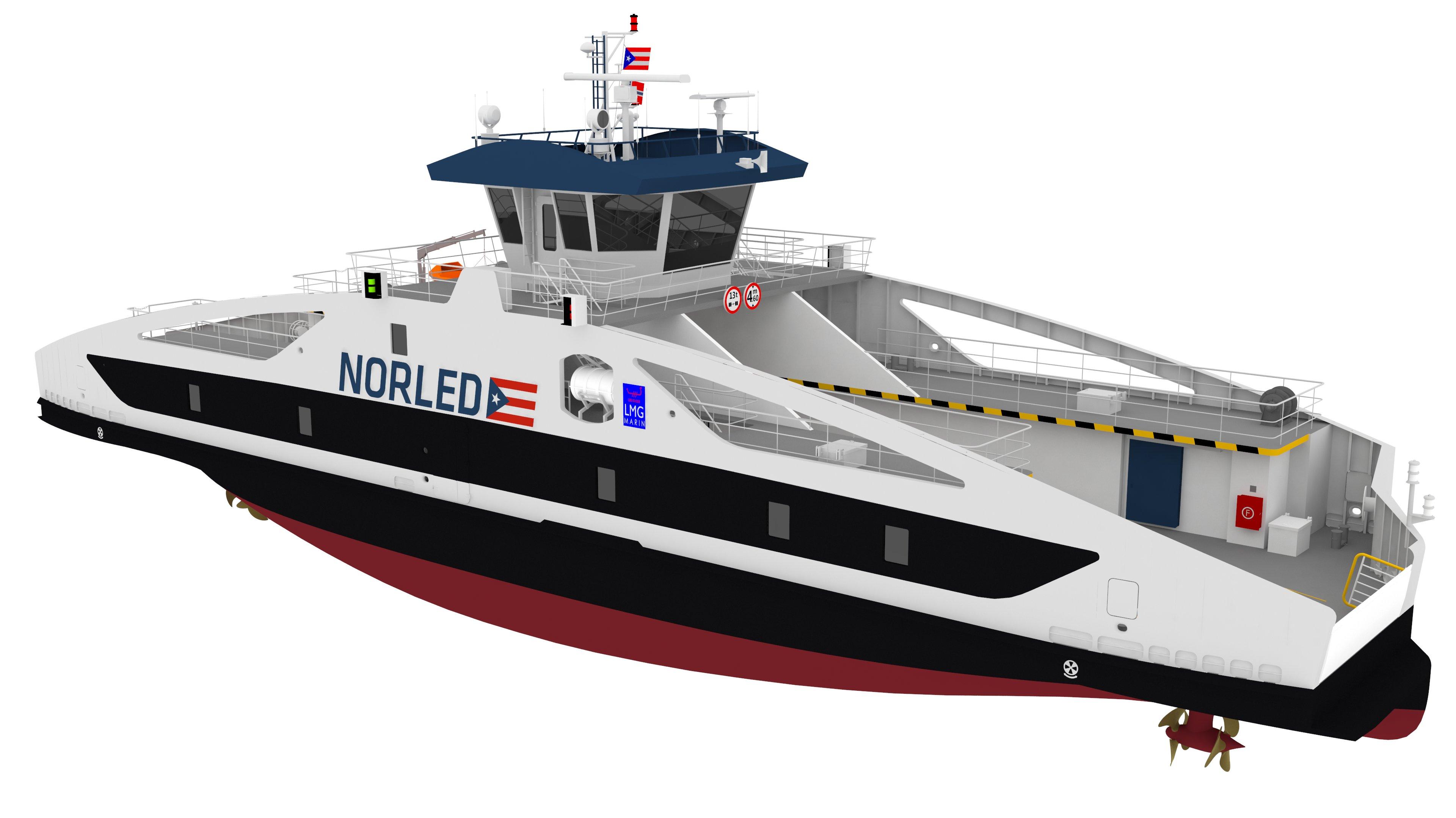 Un ferry électrique pour LMG Marin