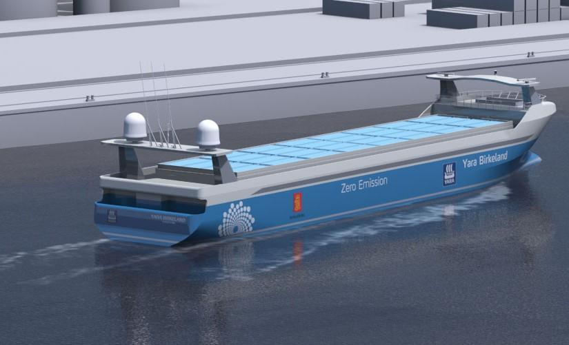Kongsberg choisit Vard pour construire son porte-conteneurs électrique autonome