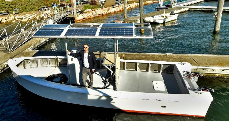Torqeedo équipe un bateau électro-solaire dédié à la vidange des eaux usées