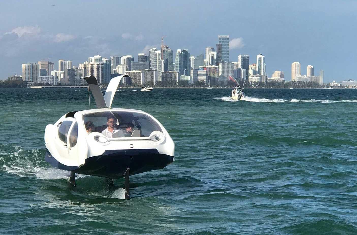 Le bateau-taxi électrique de SeaBubbles à la conquête de l'Amérique