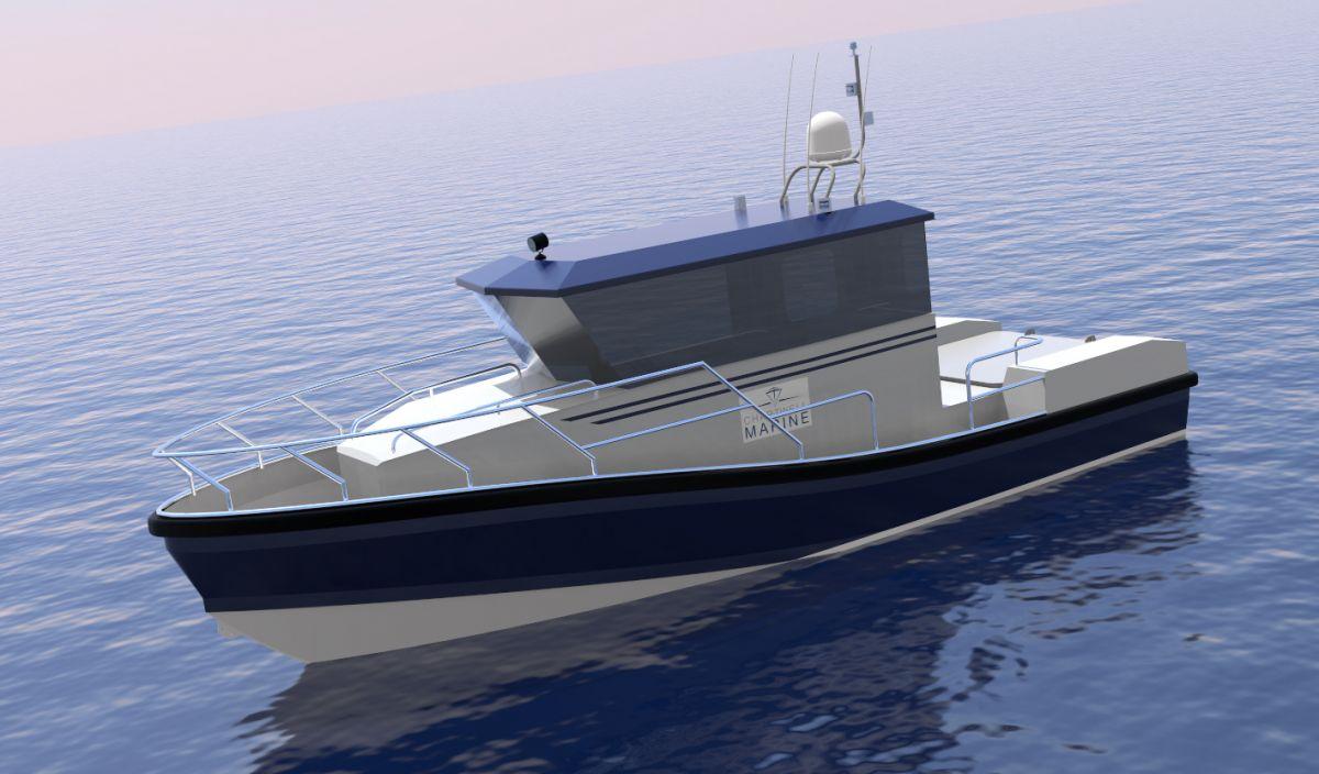 Transfluid équipe un patrouilleur hybride du chantier naval Wight