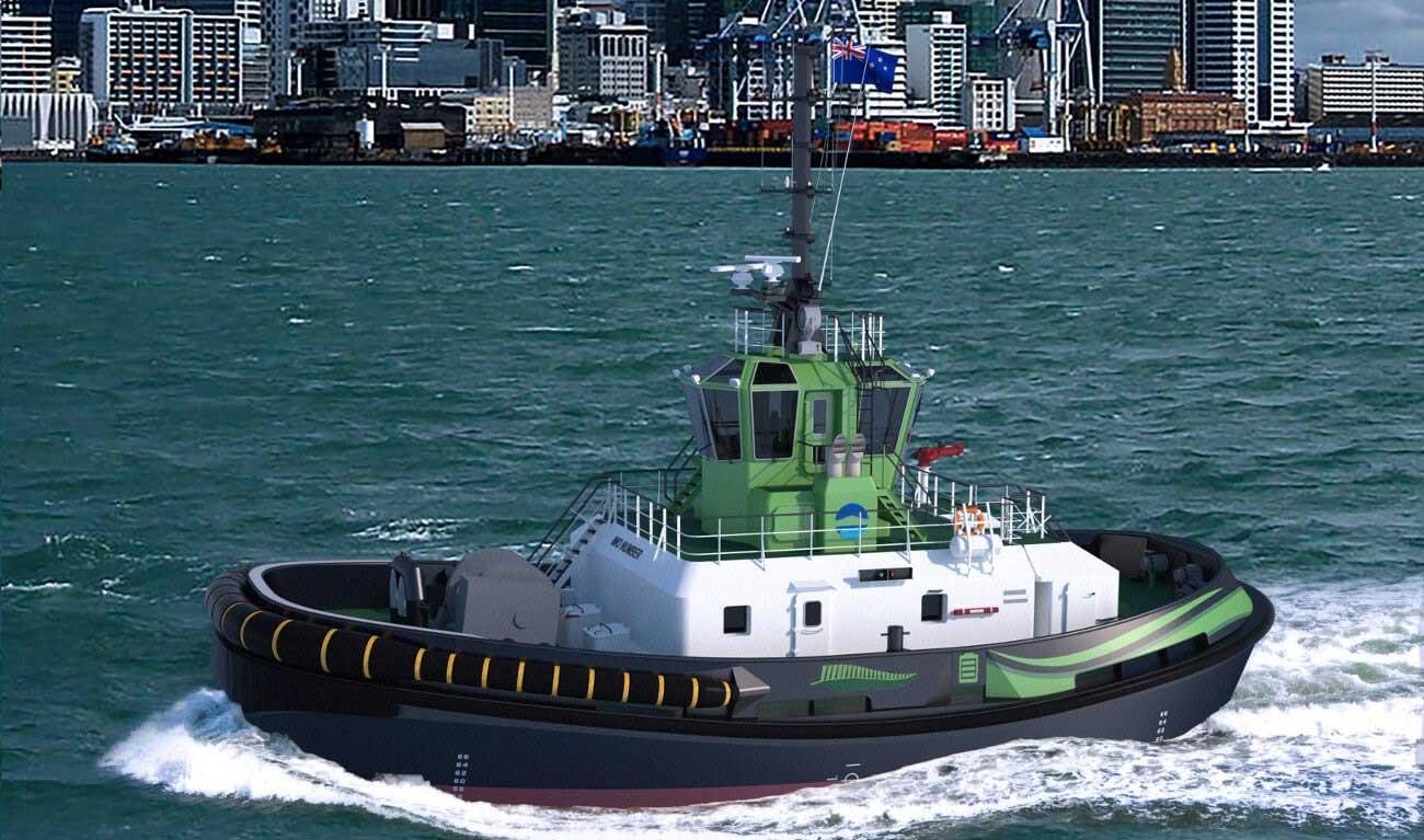 Un navire remorqueur électrique pour le port d'Auckland