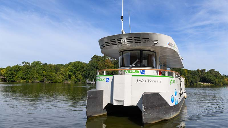 Nantes inaugure son bateau-passeur à hydrogène