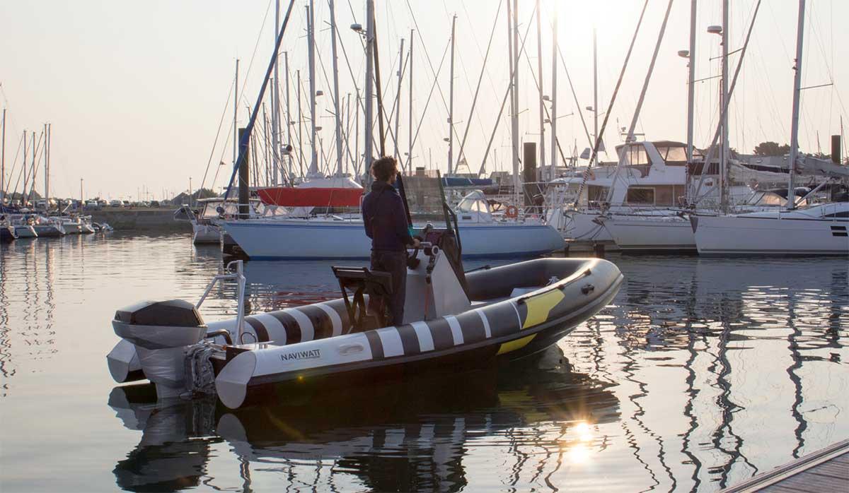 Le Golfe du Morbihan choisit le semi-rigide électrique de Naviwatt