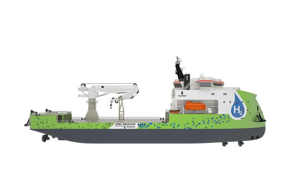 Ulstein présente son premier navire à hydrogène