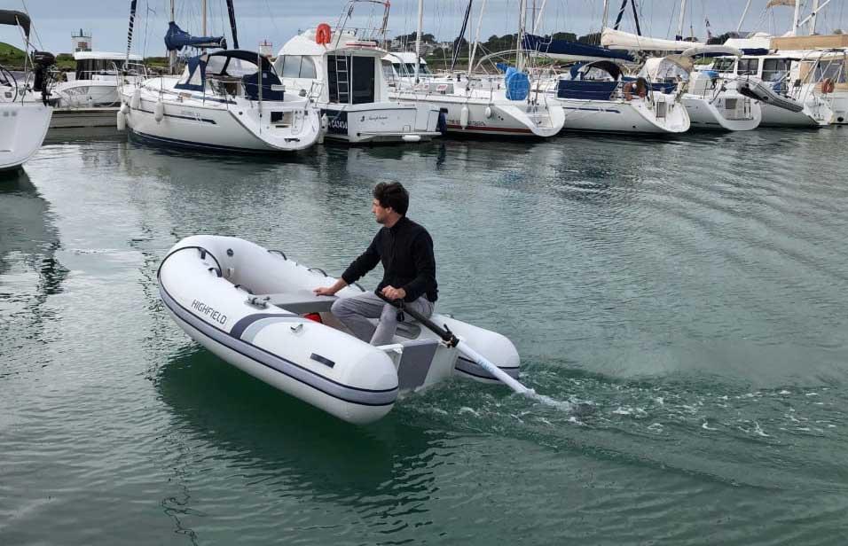 TEMO : une godille électrique pour les annexes de bateaux