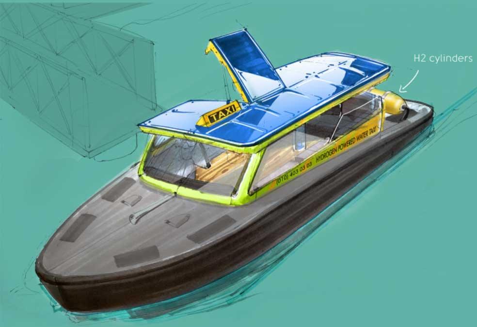 Un bateau-taxi à hydrogène bientôt expérimenté à Rotterdam
