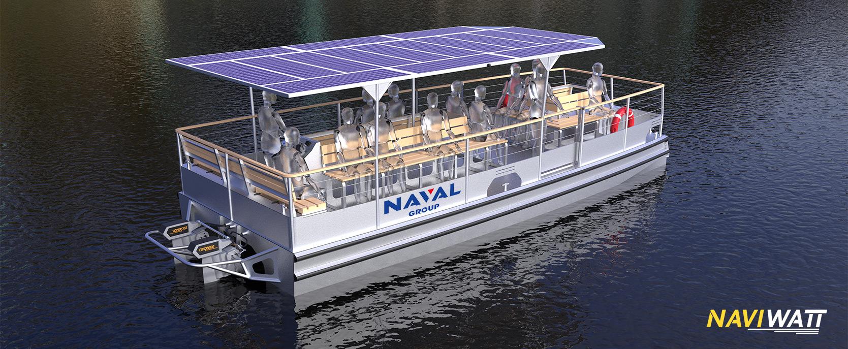 Naval Group commande un catamaran électro-solaire à Naviwatt