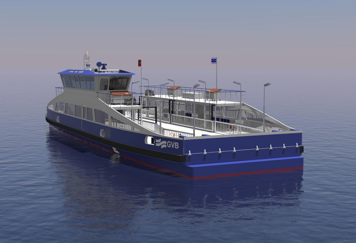 Holland Shipyard va construire cinq ferries électriques pour Amsterdam