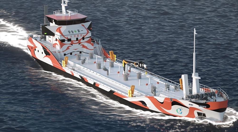 Le premier navire pétrolier 100 % électrique sera mis à l'eau en 2022