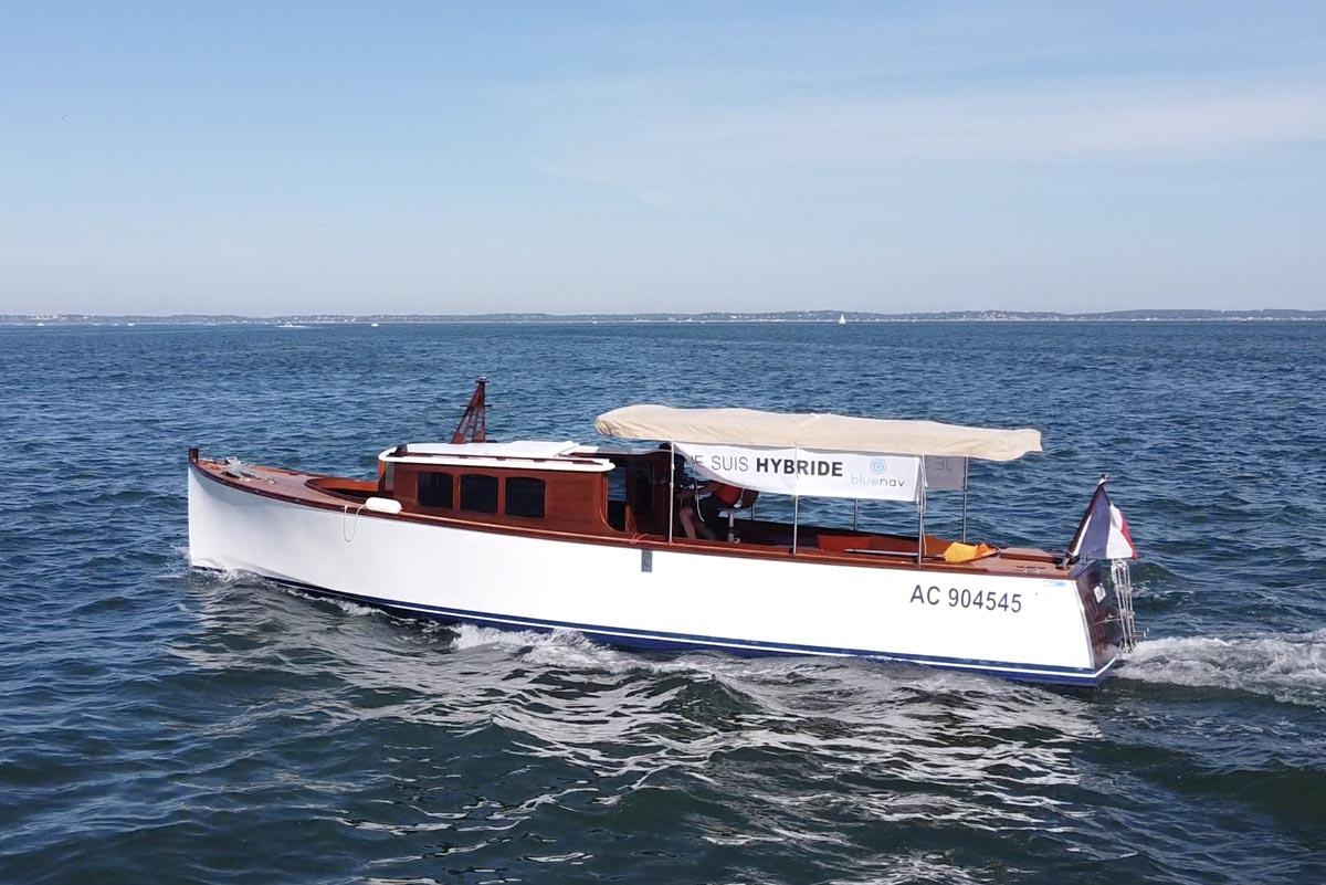 E-Nautic et BlueNav équipent le premier bateau hybride du Bassin d'Arcachon