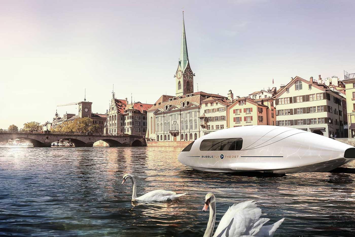 BubbleFly : Alain Thébault lève le voile sur son nouveau bateau-taxi volant