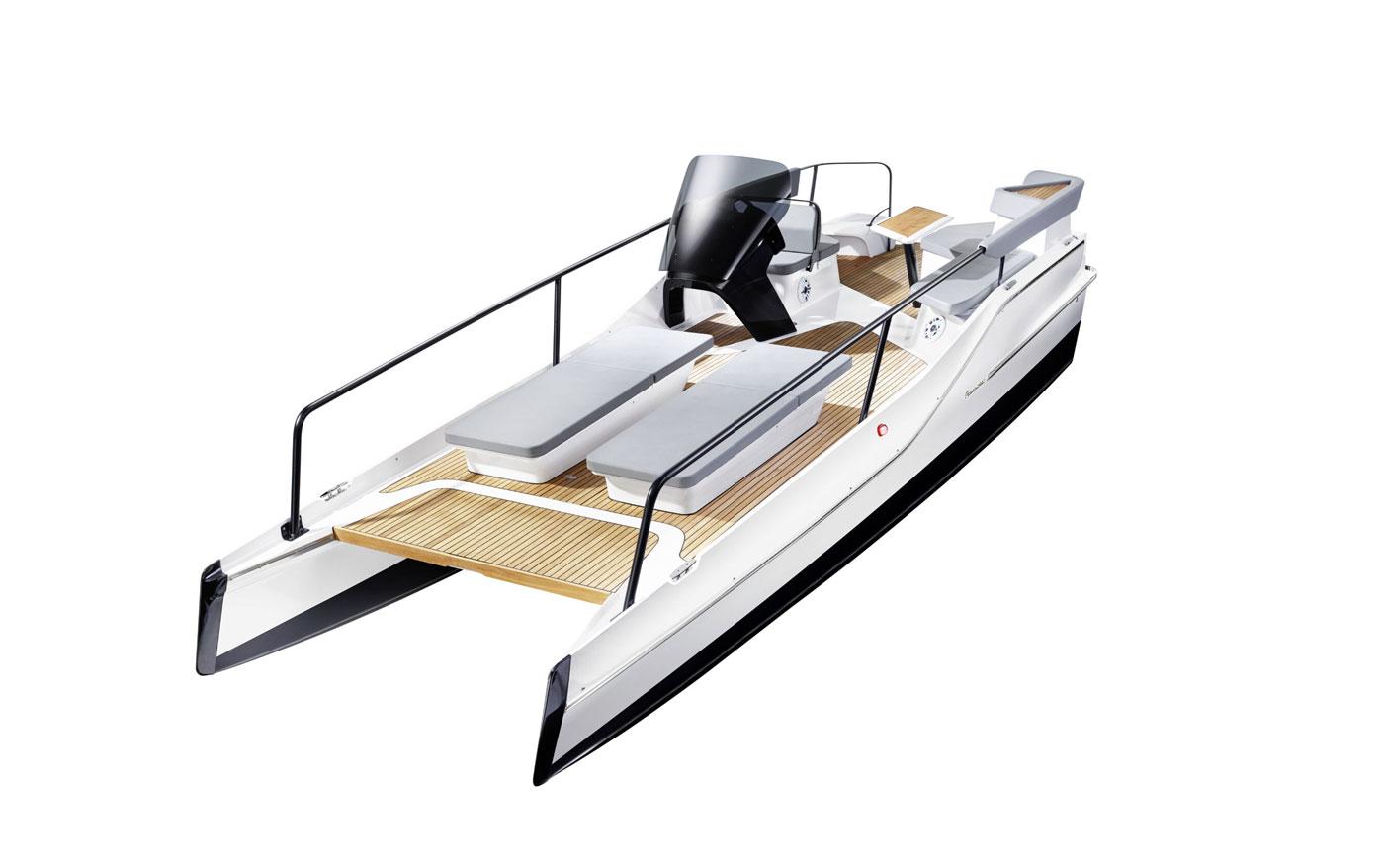 Frauscher présente son nouveau catamaran électrique TimeSquare 20