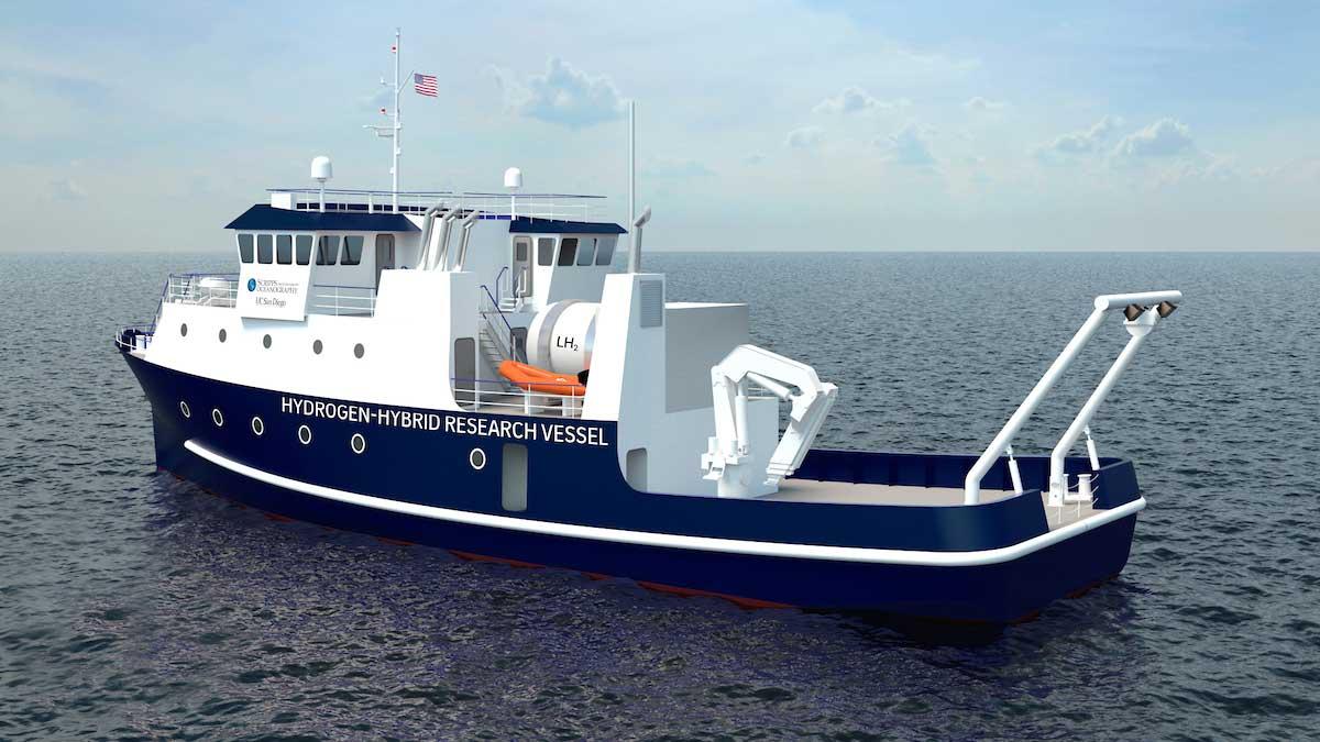 Un bateau de recherche à hydrogène pour l'Université de San Diego